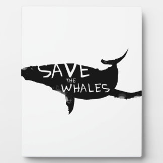 Save the Whales Plaque