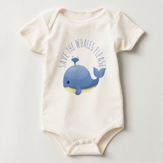 Save the Whales Please Baby Bodysuit