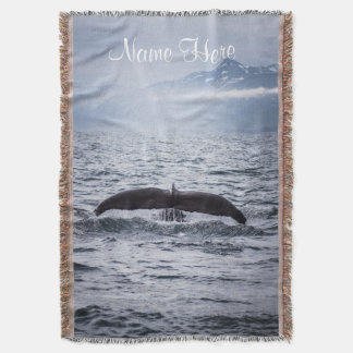 Save the Whales Sealife Ocean Throw Blanket