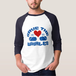 SAVE THE WHALES shirt - choose style & color