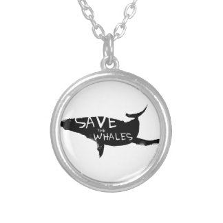 Save the Whales Silver Plated Necklace