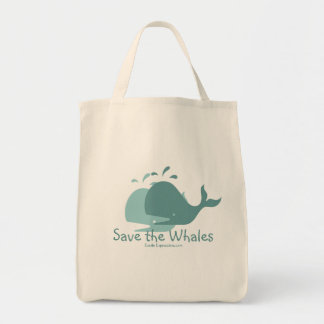 Save the Whales, Tote Bag