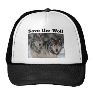 Save the Wolf Trucker Hats