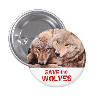 Save the Wolves 1 Inch Round Button