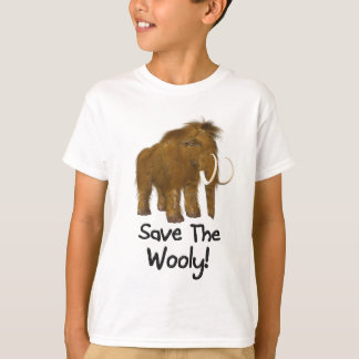 """""""Save The Wooly"""" Wooly Mammoth T-Shirt"""