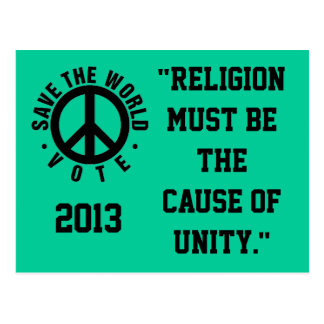 Save the world 2013 postcard