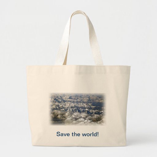 Save the world! canvas bags