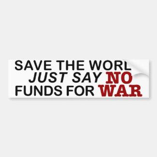 Save the World Bumper Sticker