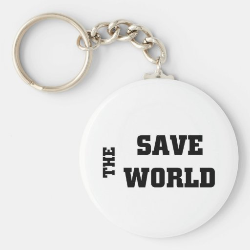Save the world keychains