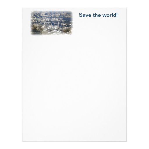 Save the world! letterhead template