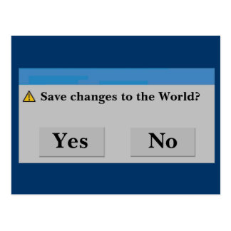 Save the World Postcard