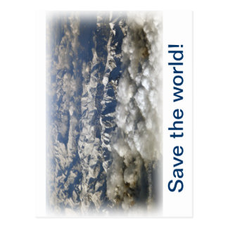 Save the world! postcard