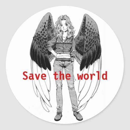 Save The World Round Stickers