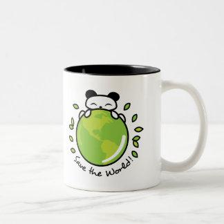 Save the World Two-Tone Coffee Mug
