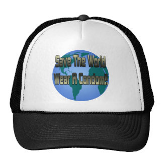 Save The World Wear A Condom Mesh Hats