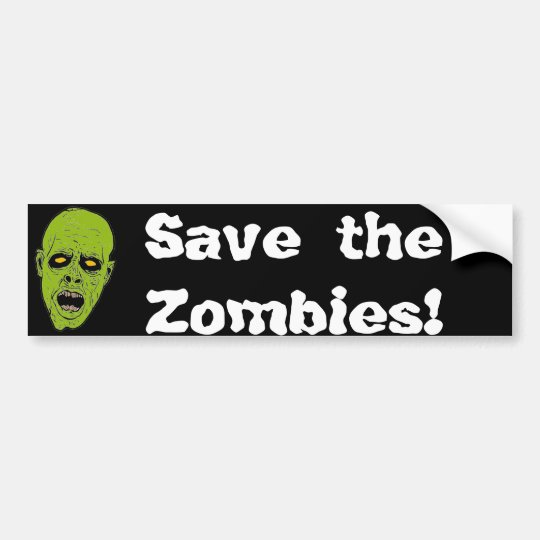 Save the Zombies Bumper Sticker