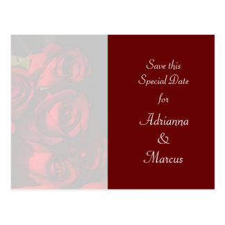 """Save this Special Date"" - Red Rose Bouquet [b] Postcard"