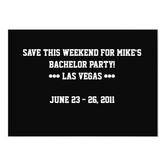 """Save this weekend bachelor party card 5"""" x 7"""" invitation card"""