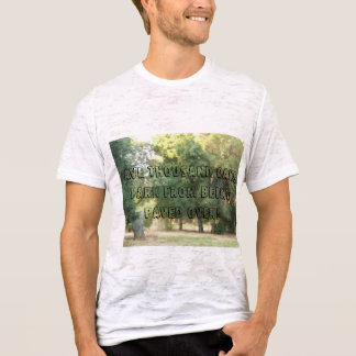 Save Thousand Oaks Park--green trees and stump T-Shirt