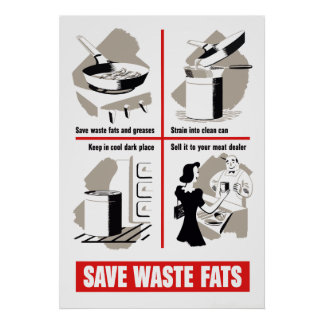 Save Waste Fats Poster