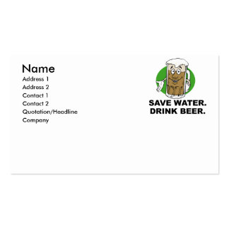 SAVE WATER DRINK BEER BUSINESS CARD TEMPLATES
