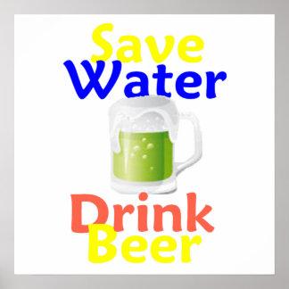 Save Water Drink Beer POSTER Print