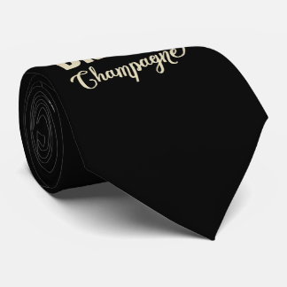 Save Water, Drink Champagne Tie