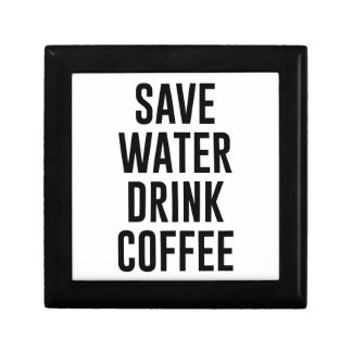Save Water Drink Coffee Gift Box