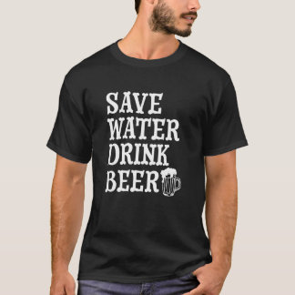 Save Water Drink Wine funny men's shirt