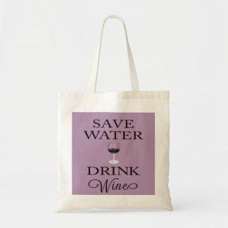 Save Water Drink Wine Tote Bag