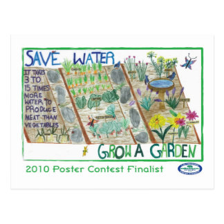 Save Water - Grow a Garden Postcard