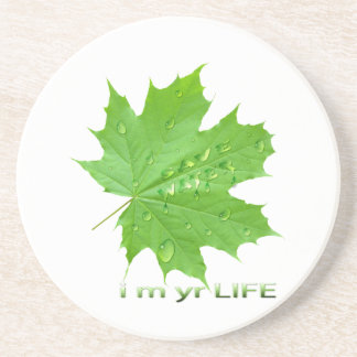 save water-i m yr life coasters