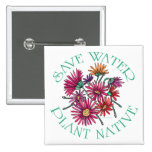 Save Water - Plant Native Pinback Button