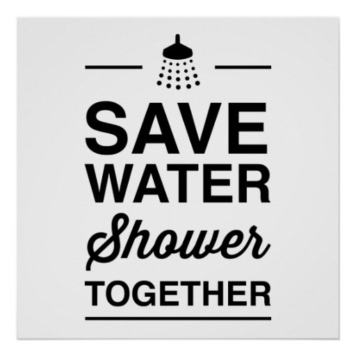 Save Water Print