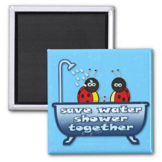save water, shower together magnet