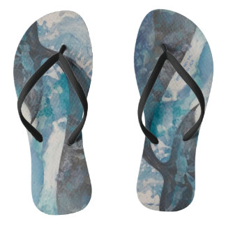"""""""Save Whales Forever"""" by Meisinger 2017 Flip Flops"""
