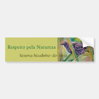 Save Wild Nature - Marsh Antwren Bumper Sticker