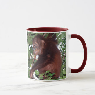 Save Wildlife: cute orangutans in the rainforest Mug
