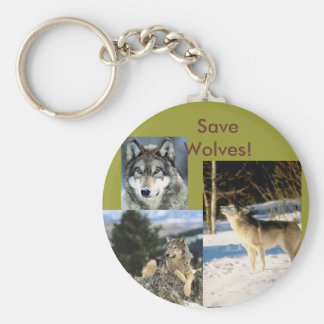 Save Wolves Keychain