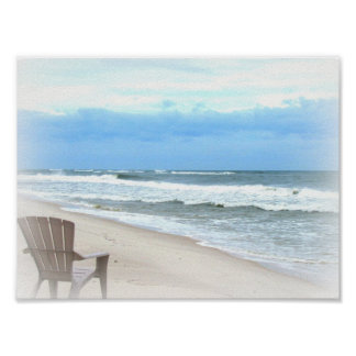 Save you a Seat at the Beach Poster