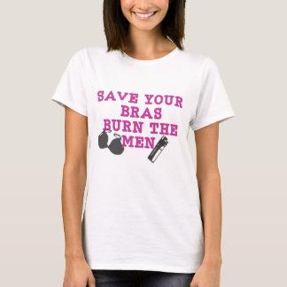 Save Your Bras Remix Design T-Shirt