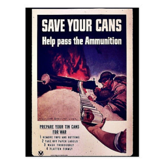 Save Your Cans Postcards