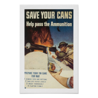 Save Your Cans Poster