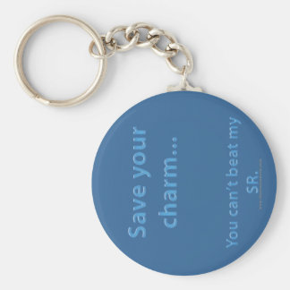 Save Your Charm Basic Round Button Keychain