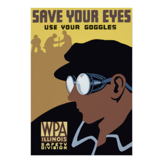 Save Your Eyes Vintage Poster