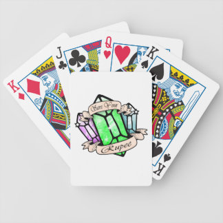 Save Your Rupee Bicycle Playing Cards