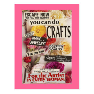 Save Your Sanity With Crafts Postcard