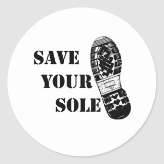 Save your sole classic round sticker