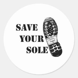 Save your sole round sticker