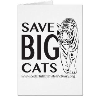 SaveBigcats Card